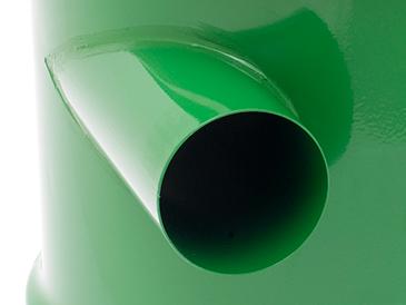 Unikalny cyklonowy wlot kieruje odpady z dala od filtra
