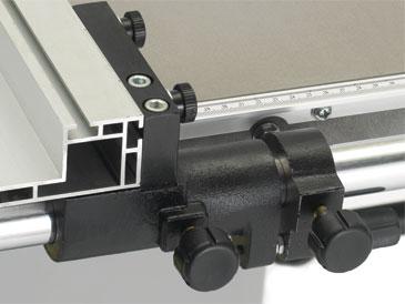 System ograniczników w pilarce tarczowej TS250C